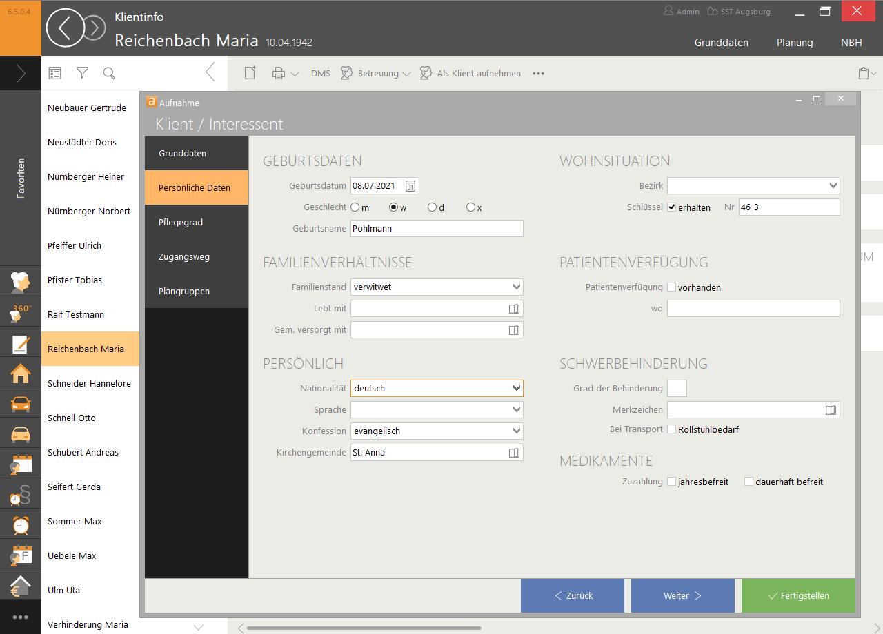 Daten erfassen Angebote